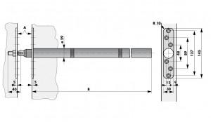 Tube door closer RTS v dimensions
