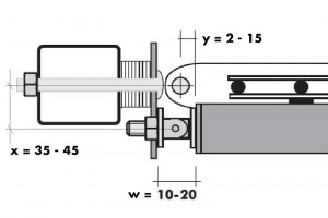 Tube door closer RTS Surface installation with casing