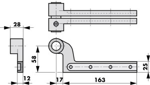 Floor spring accessories dimensions 460087/460094