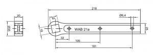 Floor spring WAB 180 accessories dimensions 460090