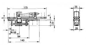 Floor spring WAB 180 accessories dimensions 460091-300