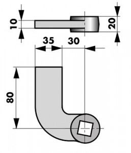 Floor spring accessories dimensions 460088-300