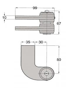 Floor spring WAB 180 accessories dimensions 460089-300