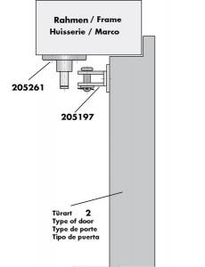 Türöffnungsbegrenzer Befestigungszubehör Montage 3