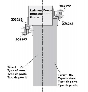 Türöffnungsbegrenzer Befestigungszubehör Montage 4