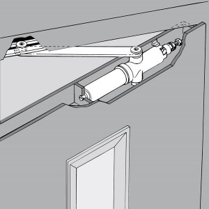 Ferme-portes pour portes battantes d