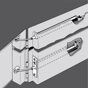 ATS Tube Door Closer for the Concealed Installation in the Door Leaf