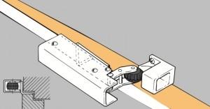 Door check VS 2000 horizontal installation