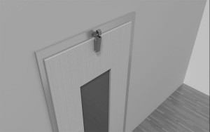 Door check V 1600 3D recessed door