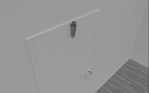 Door check V 1600 3D flush door