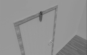 Door check V 1600 3D overlapping door