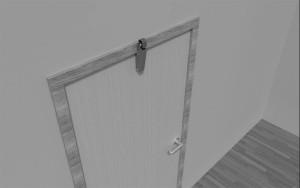 Door check V 1600 3D overlapping door