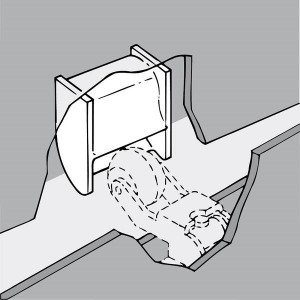 010221 Aufzug Türdämpfer Einlaufkurve Montage1