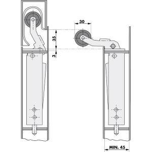 010221 Aufzug Türdämpfer Einlaufkurve Montage2