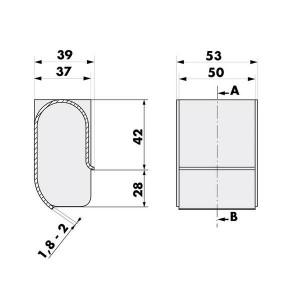 012021 Aufzug Türdämpfer Einlaufkurve Maße