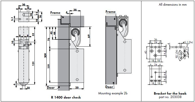020104-Door-Check-R-1400-Dimensions