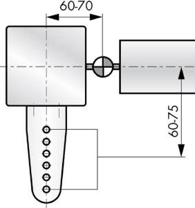 Türschließer DIREKT 150 Montage mittig