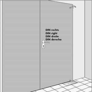 DIN type door WAB 180