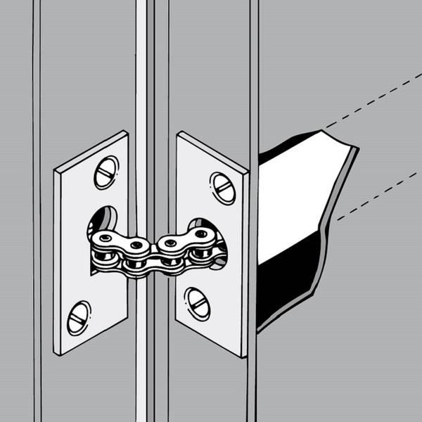 ferme porte encastr invisible pour le montage dans le panneau de porte. Black Bedroom Furniture Sets. Home Design Ideas