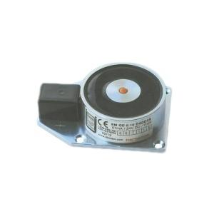 Elektro-Haftmagnet mit Anschlussklemme auf Grundplatte