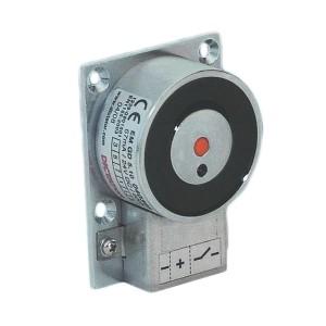 Elektro-Haftmagnet mit Rückmeldekontakt und Anschlussklemmenblock