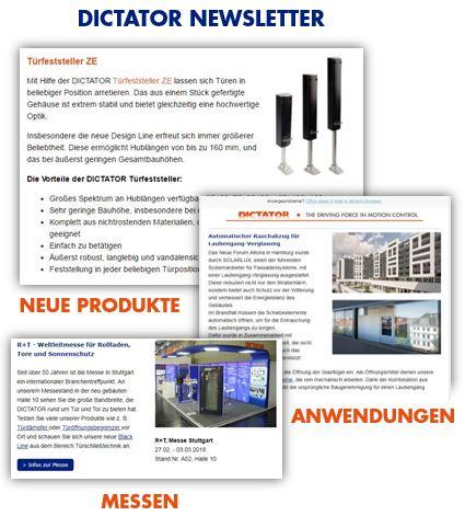 Newsletter Anmeldung DICTATOR Technik Neusäß