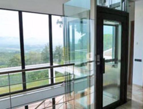 Ein Homelift als architektonisches Design-Objekt