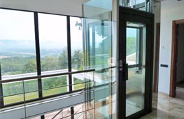Aufzug Homelift Glas