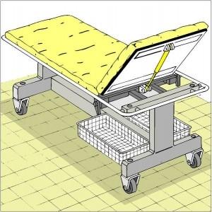 Blockierbare Gasfedern Einsatz Krankenbett Gasfeder blockierbare Gasdruckfedern