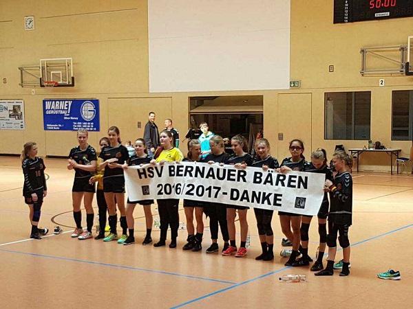 L'équipe du HSV Bernauer Bären, jeunesse féminine C,