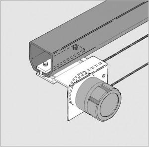 Halbautomatische Brandschutzantriebe Brandschutz Schiebetorantrieb