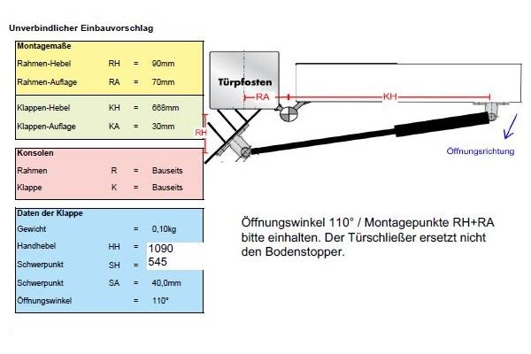 Gasfedern Berechnung DICTATOR