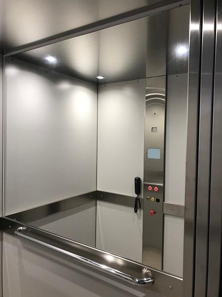 Homelift DHM 500 Bedientableau und Spiegel