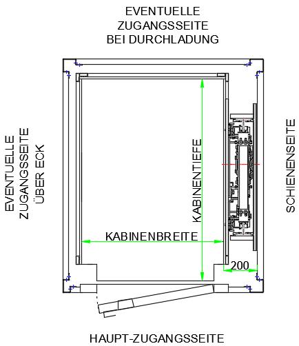 Top DICTATOR Homelift DHM500 technische Daten & Maße Maßanfertigung SE32