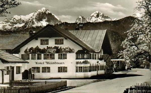 Hotel Weinbauer alrededor de 1950
