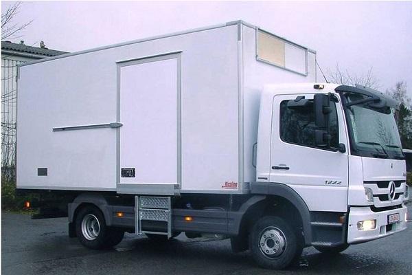 Kühlfahrzeug mit Pendeltürbändern verhindern Kälteverlust in Kühl-Fahrzeugen