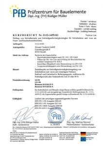 Kurzbericht Brandschutzprüfung Prüfung von Schließmitteln Schließgeschwindigkeitsregler