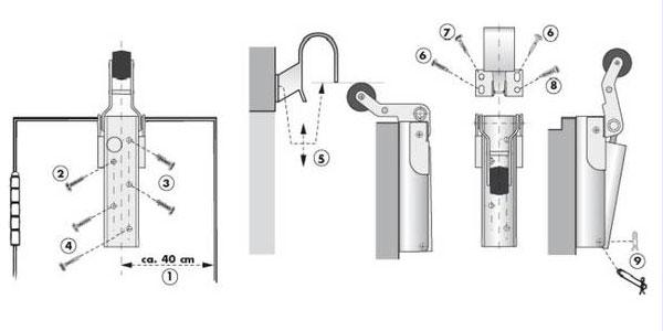 Türdämpfer H 1300 Montage