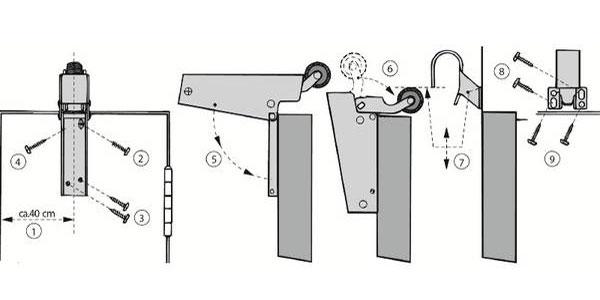 Montage Türdämpfer V 1600