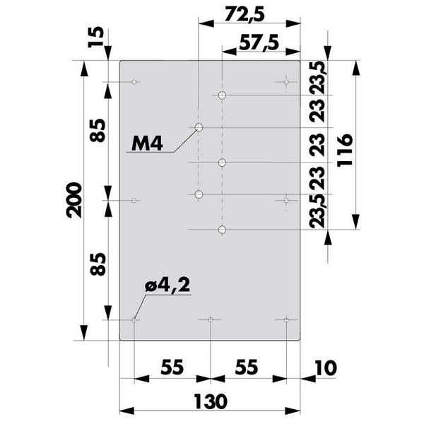 Montageplatte H1300 205213