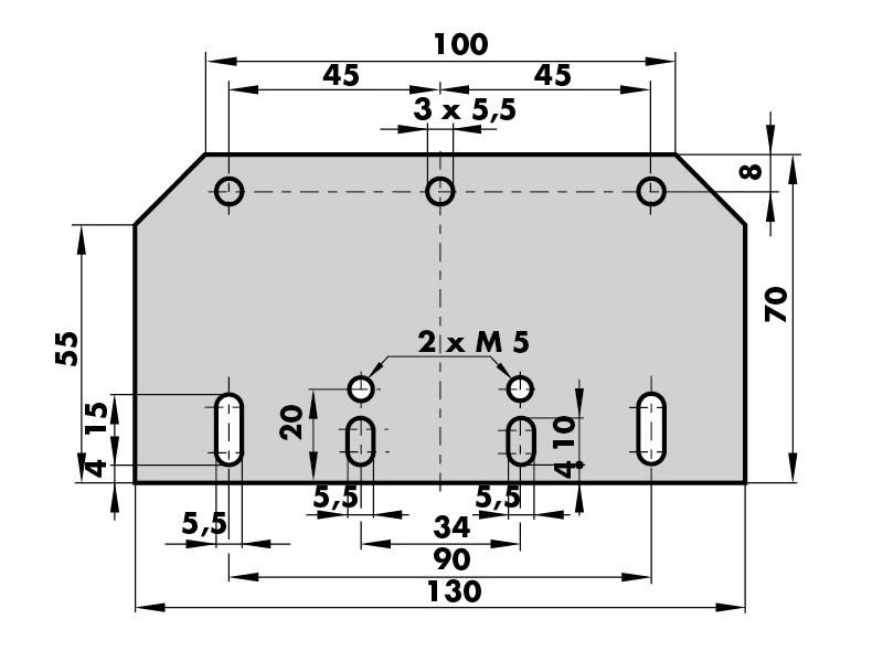 Montageplatte Haken 205231XL
