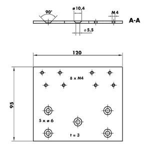 Montageplatte V1600 205463