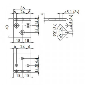 Türdämpfer R 1400 Montagewinkel Maße