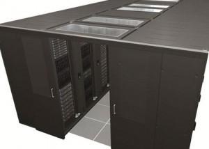 Serverraum Rechenzentrum Kaltgangeinhausung Schiebetüren