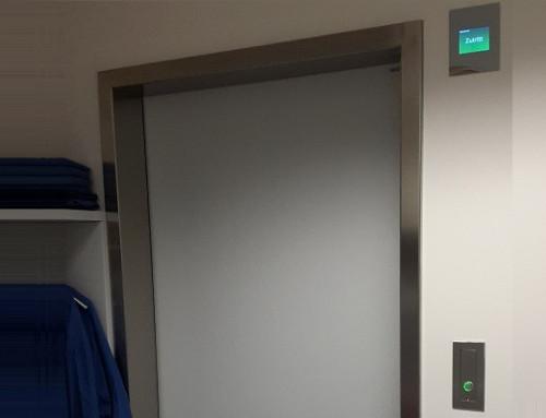 Schleusenanlage im Universitätsklinikum St. Pölten