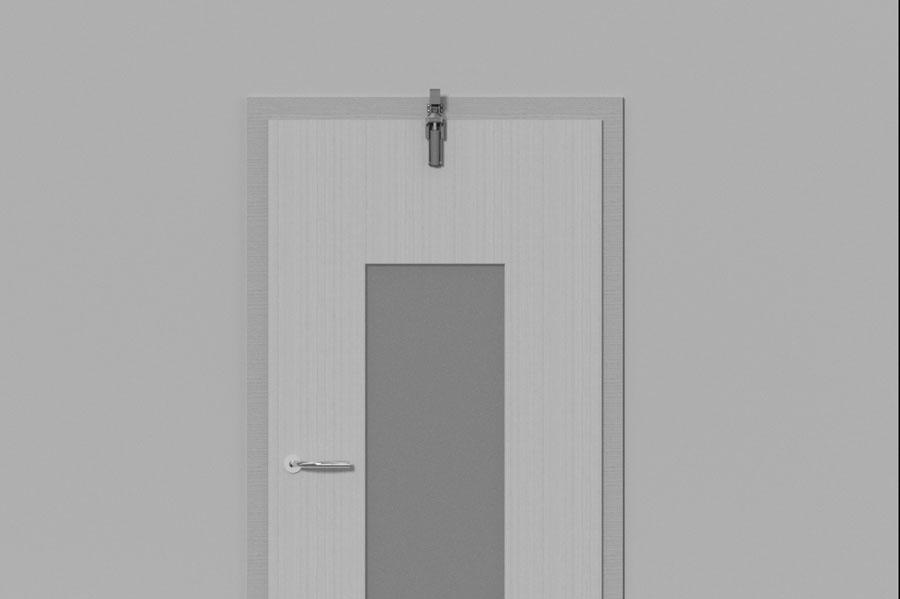 Türdämpfer H 1300 aufliegende Tür frontal