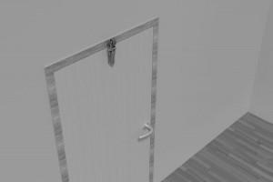Türdämpfer H 1300 mit Haken 1009 an gleichliegender Tür