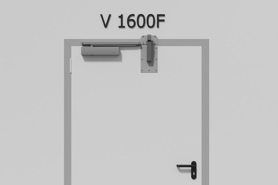 Türdämpfer V1600F für Brandschutztüren Türschließer Stahltür Rauchschutztüren