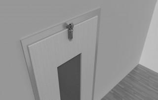 Türdämpfer Z 1000 mit Haken 1013 an aufliegender Tür