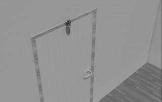 Türdämpfer Z 1000 mit Haken 1009 an gleichliegender Tür